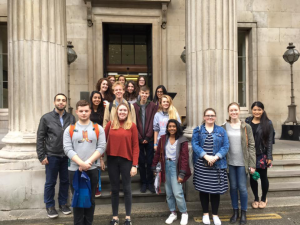 History Society outside the Hunterian - taken by a member of the group.