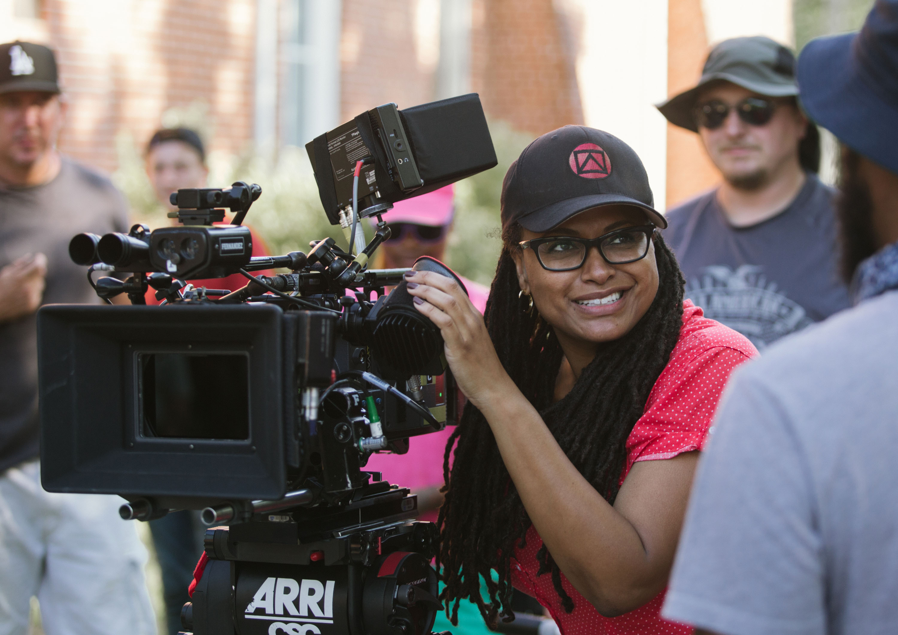 Director/Executive Producer Ava DuVernay (center) on the set of SELMA, from Paramount Pictures, Pathé, and Harpo Films. SEL-09411  selma-ava-duvernay1