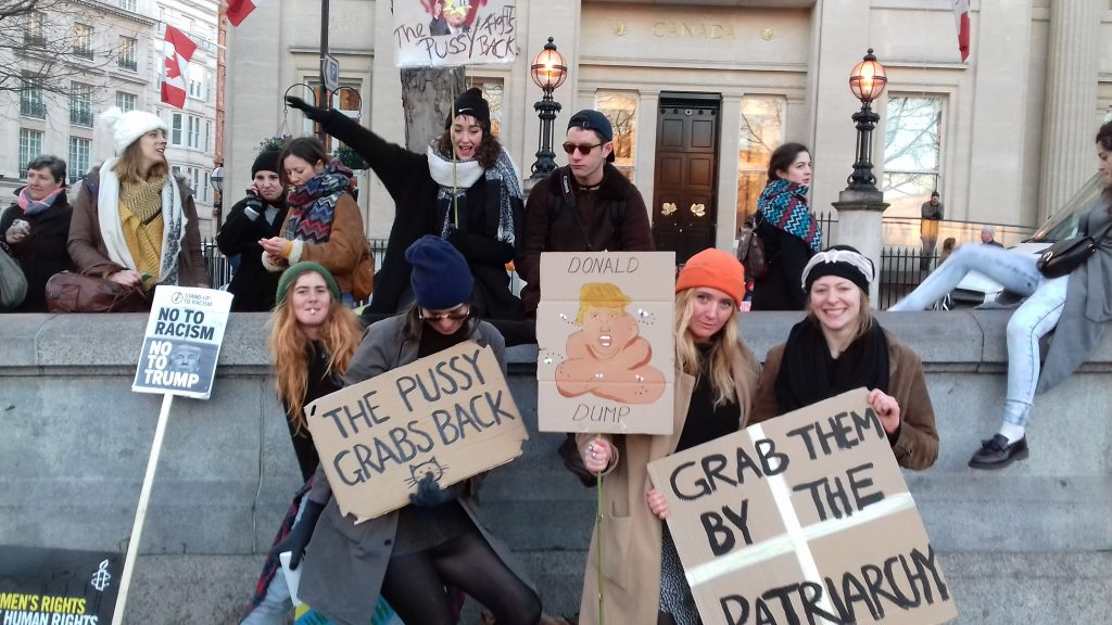 'The pussy grabs back'-The Women's March on London and Washington