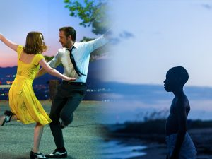 La La Land courtesy of SUMMIT ENTERTAINMENT 2016, Moonlight courtesy of A24 films.