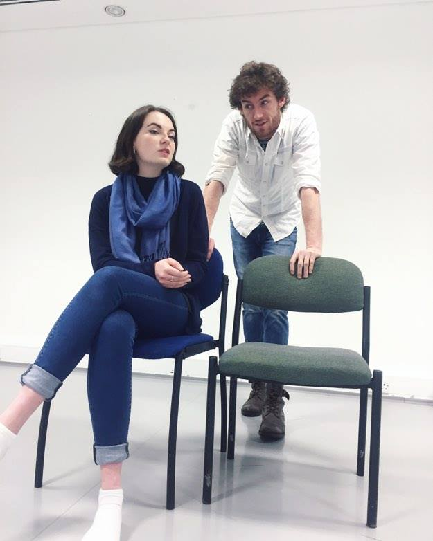 In rehearsal – Jennie Martin and Peter Fogarty. Credit: Sophie Ellen Davies