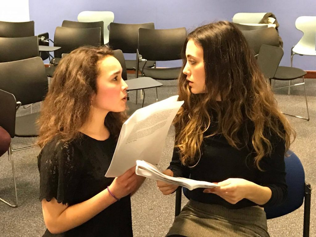 Emily Redpath and Eloina Haines in rehearsal CREDIT: Stephan Ledesma