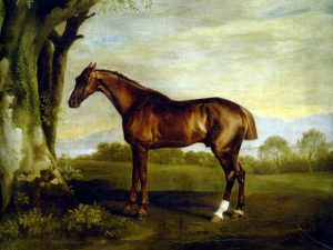 George Stubbs: 'A Chestnut Racehorse'