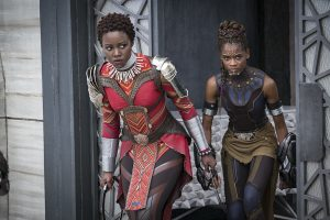 'Amidst this excellent cast of characters, it's the women that steal the movie': Lupita Nyong'o as Nakia, Letitia Wright as Shuri. © Marvel Studios