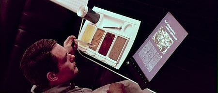 In designing Apple devices such as the iPhone and iPad, Steve Jobs borrowed elements from the set design within the spaceships in 2001. © 1968 Warner Bros. Entertainment Inc. All rights reserved.