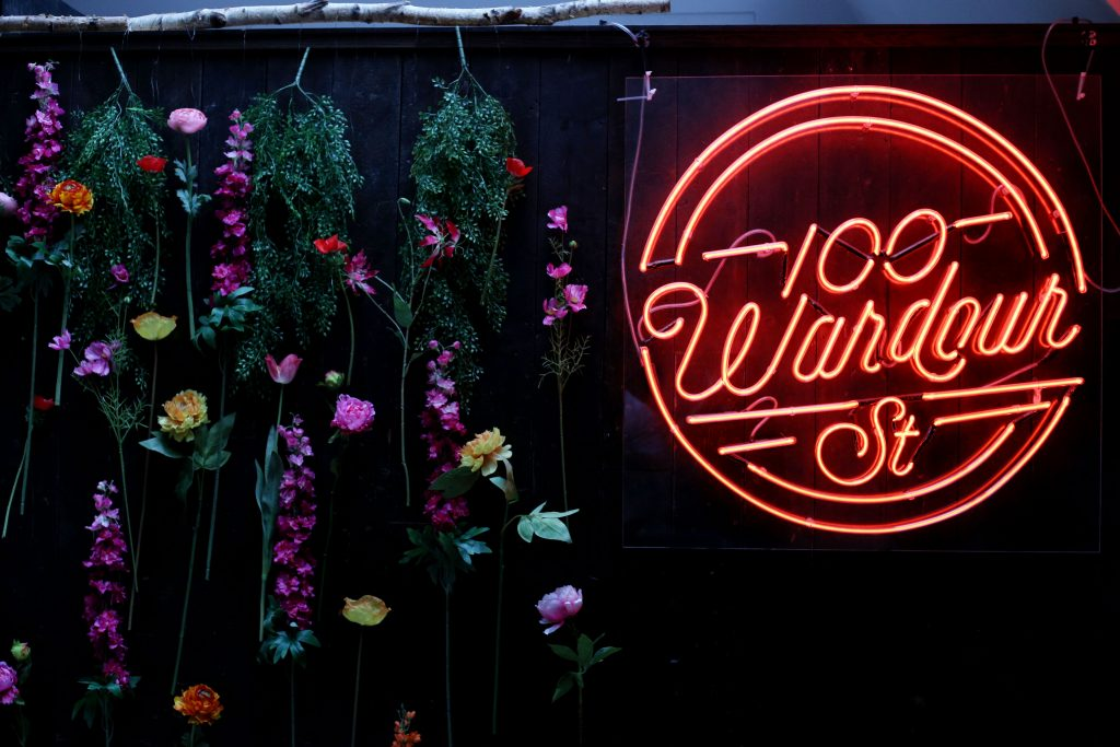 Feel Good with 100 Wardour St's new pop up bar in aid of mental health.