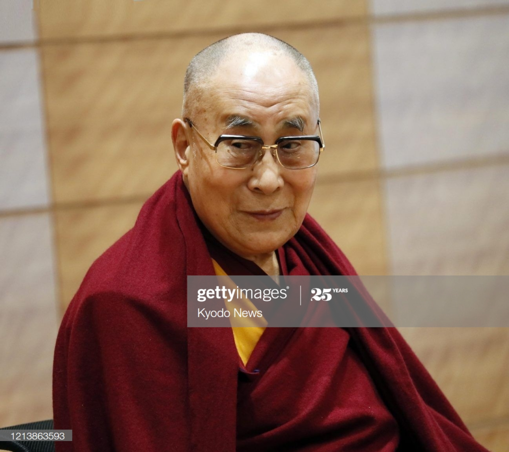 Photo of 14th Dalai Lama by Kyodo News via Getty Images