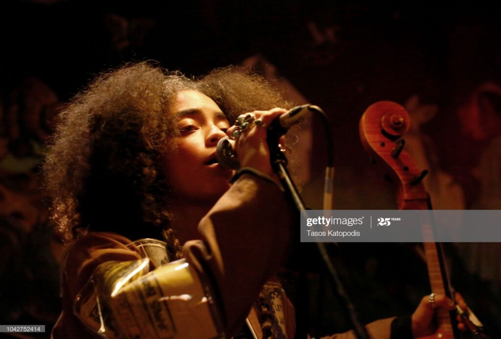 WASHINGTON, DC - SEPTEMBER 28: Kelsey Lu performs at the human/progress festival at Eaton DC on September 28, 2018 in Washington, DC. (Photo by Tasos Katopodis/Getty Images for Eaton Hotel)
