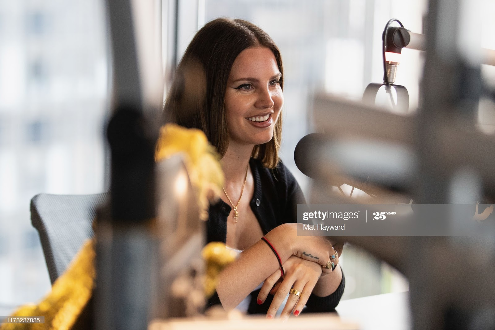 SEATTLE, WA - OCTOBER 02: Singer Lana Del Rey speaks at 107.7 The End on October 2, 2019 in Seattle, Washington. (Photo by Mat Hayward/Getty Images)