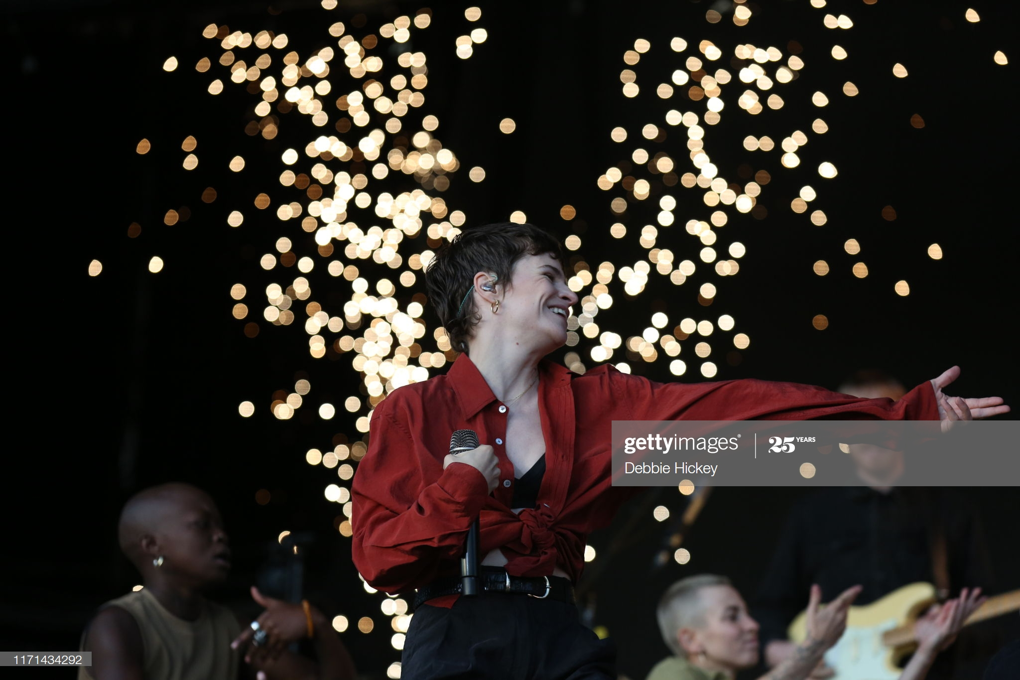 STRADBALLY, IRELAND - AUGUST 31: Heloise Letissier of Christine and the Queens performs on stage during Electric Picnic Music Festival 2019 at Stradbally Hall Estate on August 31, 2019 in Stradbally, Ireland. (Photo by Debbie Hickey/Getty Images)